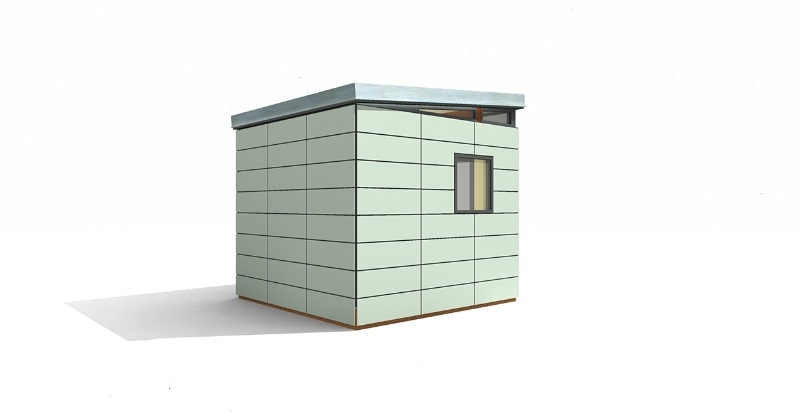 Modern shed kit 10 39 x 10 39 prefab modern shed kit for Contemporary shed kits