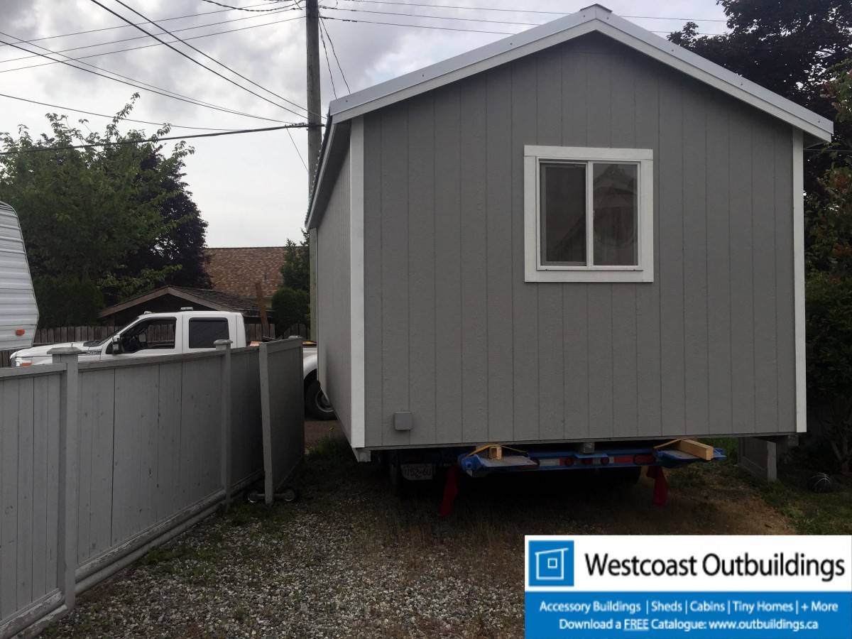 12x20 vancouver modular garage by westcoast outbuildings for Prefab garage california