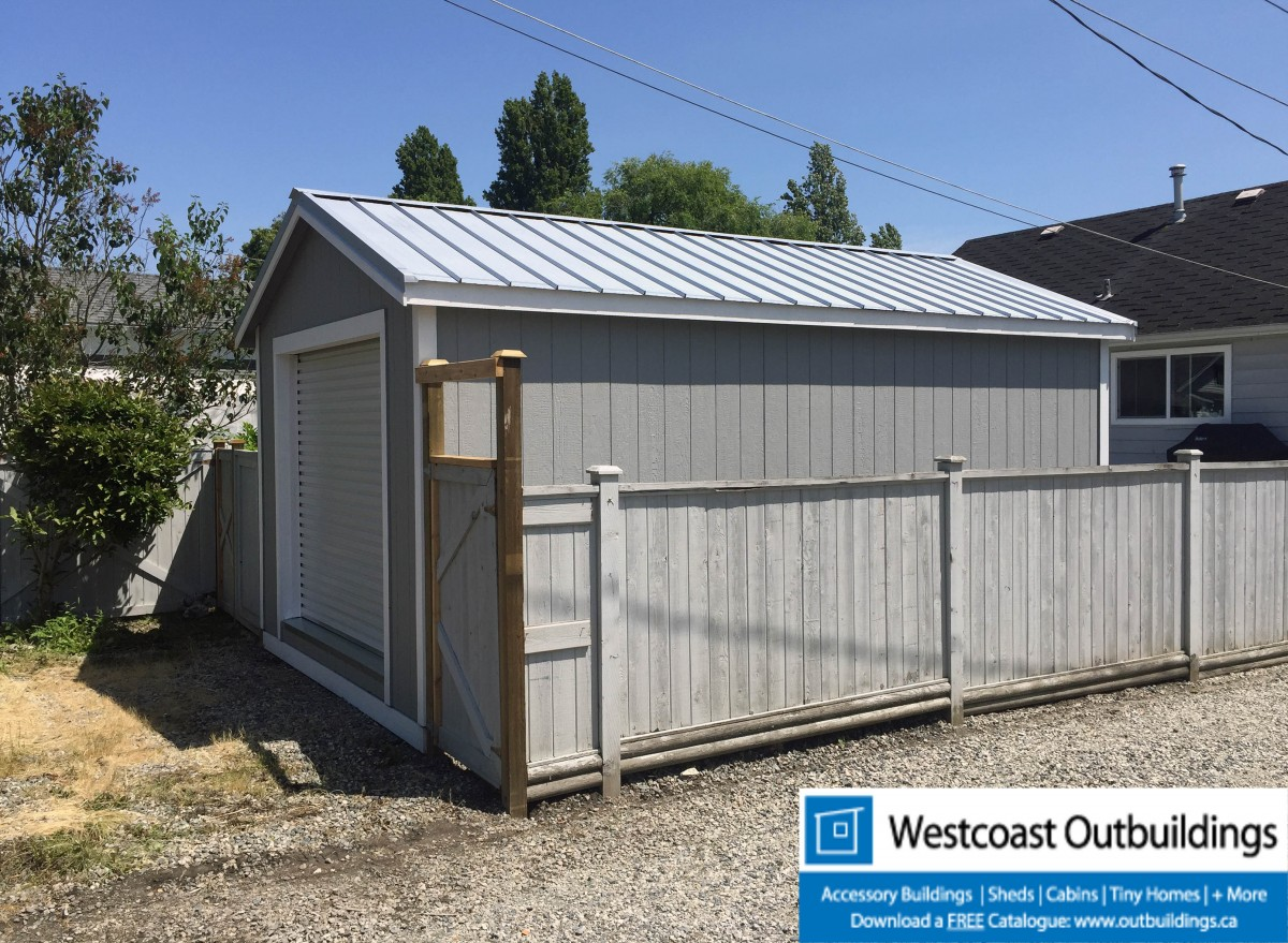 12x20 vancouver modular garage by westcoast outbuildings for Modular garage canada