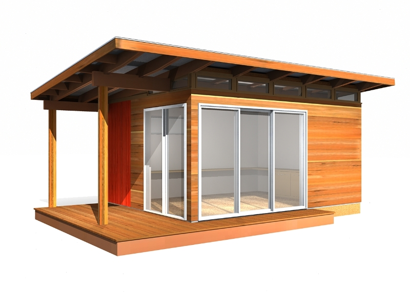 Modern shed pre fab shed kit 12 39 x 16 39 coastal prefab for Backyard house kits