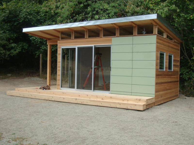 Modern shed home office space to frame a day for Modern office shed