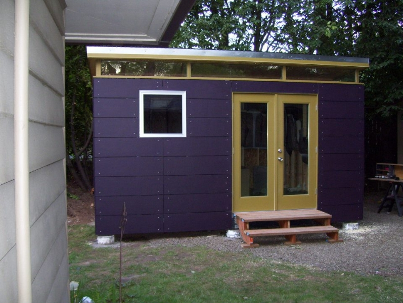 Prefabricated shed kit modern shed kit 12 39 x 16 for Contemporary shed kit