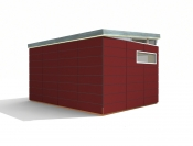 12' x 16' Prefabricated Shed Kit By Modern Shed