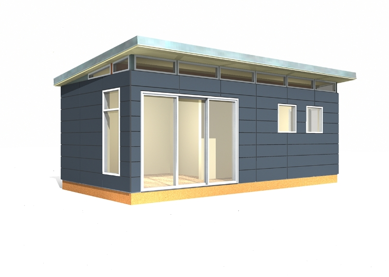 Modern shed kit 12 39 x 24 39 prefabricated shed kits for Contemporary shed kit