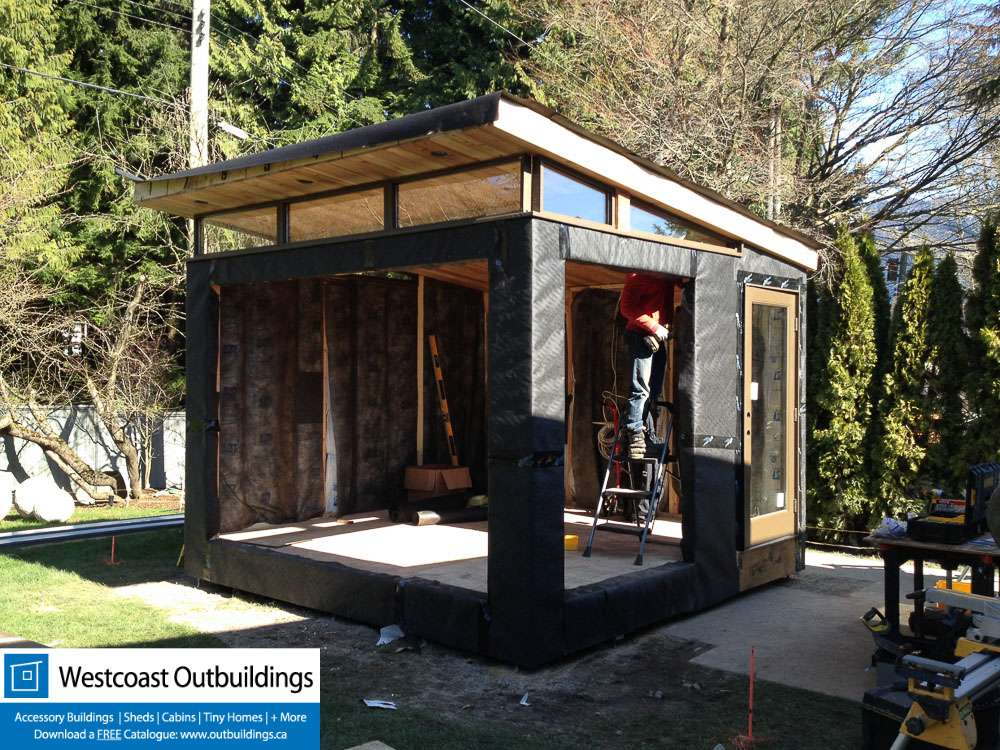 Prefab Workout Room West Vancouver Modern Shed