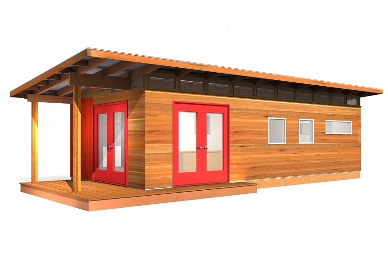 Modern shed kit 14 39 x 30 39 coastal prefab laneway house for Contemporary shed kit