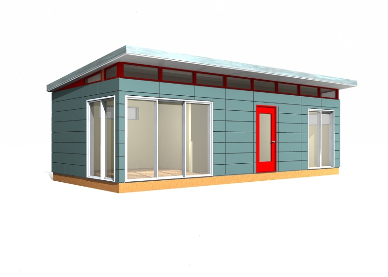 Prefab building kit 14 39 x 30 39 modern shed prefab for Prefab garden buildings