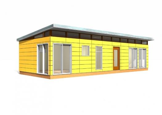 Modern-Shed Prefab Dwelling Kit: 16' x 40'