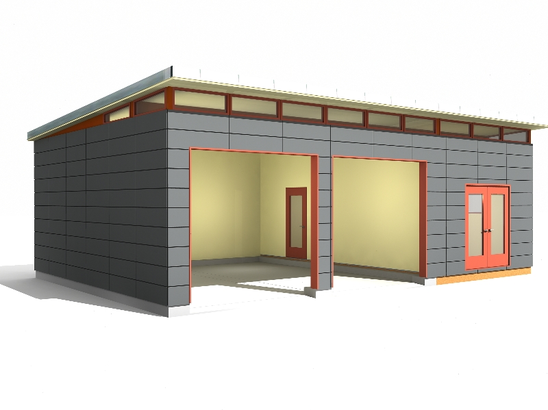 24 39 X 34 39 Garage Shop Modern Shed Design Westcoast