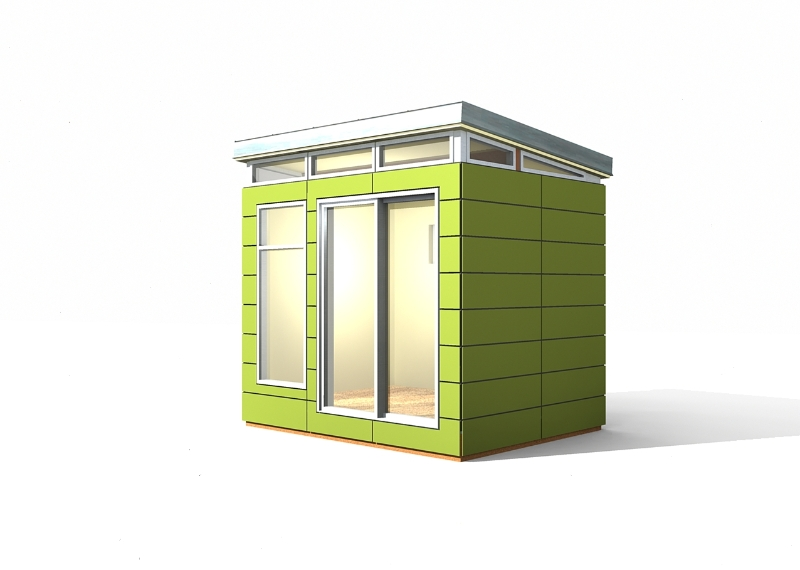 Modern shed kit 8 39 x 10 39 prefab modern shed kit for Contemporary shed kit