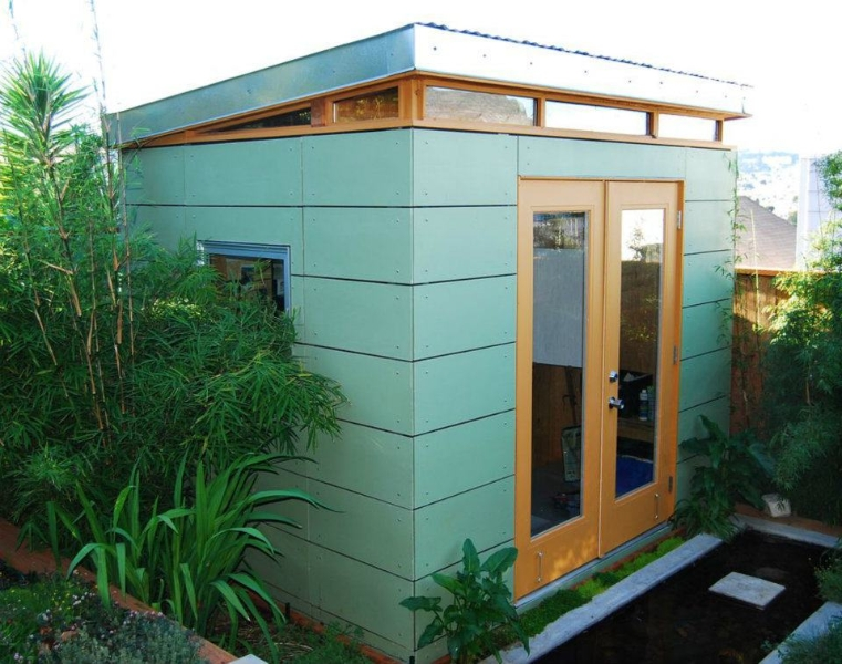 8 x 12 garden shed by modern shed for Garden shed music studio