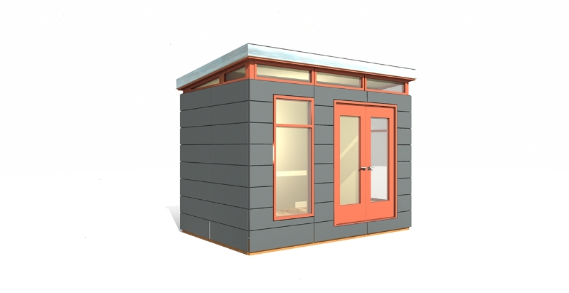 Modern shed kit 8 39 x 12 39 prefab shed garden shed tool for Garden shed electrical kit