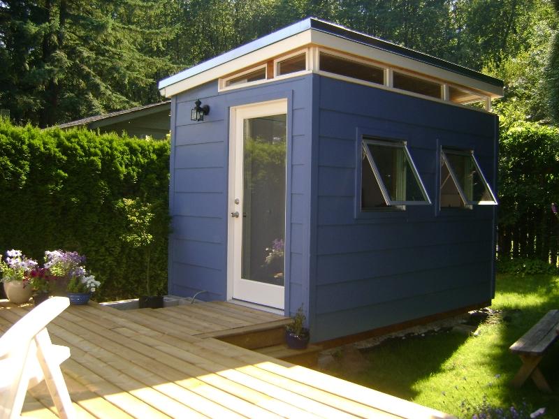 Backyard bedroom kit 8 x 12 teenage dream modern shed kit for Modern shed