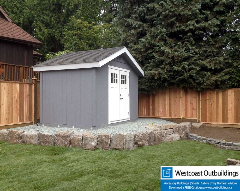 8x12 craftsman garden shed westcoast outbuildings for Garden shed 12x12