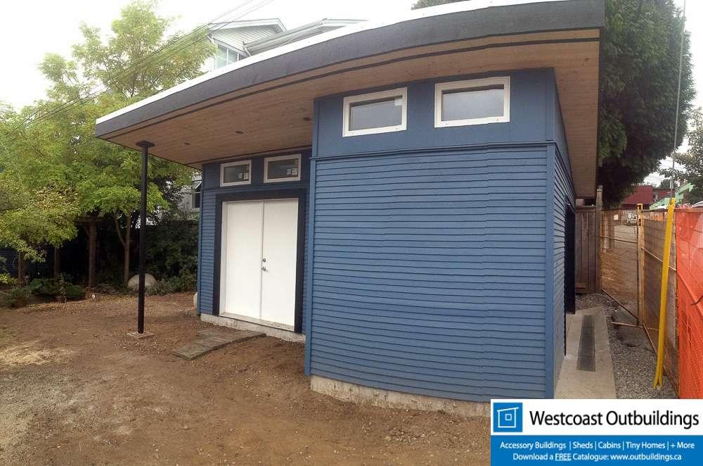 12 39 x 28 39 modular storage shed westcoast outbuildings for Modular garage canada