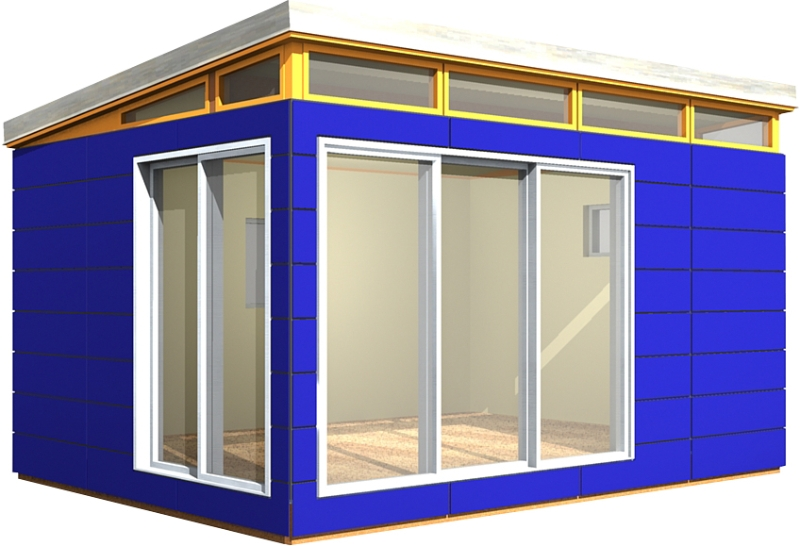 Modern shed kits prefab shed kits from 101 200 sq ft for Contemporary shed kits