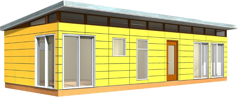 16' x 40' Modern-Shed Dwelling Shed Kit