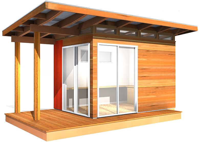 modern shed kit 8 39 x 12 39 coastal design