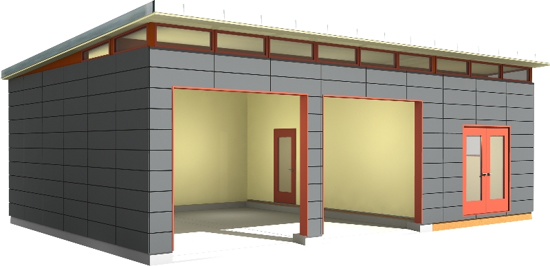 . Prefab Dwelling Kit   Prefab House Kit   Prefab Garage Kit Modern Shed