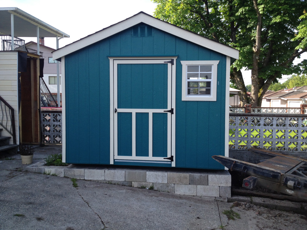 East vancouver garden shed 8x10 westcoast outbuildings for Gable sheds