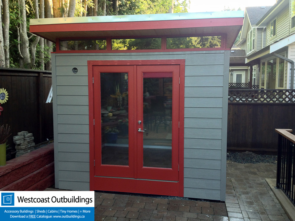 8 39 x10 39 modern shed backyard office south surrey bc for Modern office shed